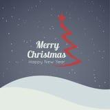 Frohe Weihnacht-Landschaft Lizenzfreie Stockbilder