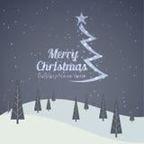 Frohe Weihnacht-Landschaft Stockfoto