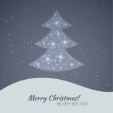 Frohe Weihnacht-Landschaft Lizenzfreie Stockfotografie