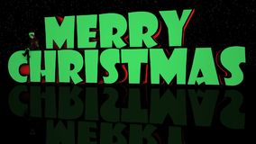 Frohe Weihnacht-Lichter u. Stadium mit Elfe 3D stock video