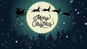Frohe Weihnacht-Mondschein lizenzfreie stockbilder