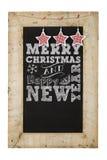 Frohe Weihnacht-neue Jahr-Tafel Stockbilder