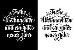Frohe Weihnacht Neues Jahr Noël en Allemagne Photos stock