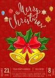Frohe Weihnacht-Plakat für Urlaubsparty Promo stock abbildung
