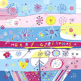 Frohe Weihnacht-Quadrat-Karte Stockbild
