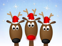 Frohe Weihnacht-Ren stock abbildung