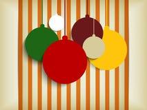 Frohe Weihnacht-Retro- bunter Hippie-Hintergrund Lizenzfreie Stockfotos