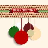 Frohe Weihnacht-Retro- bunter Hippie-Hintergrund Stockbilder