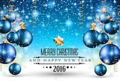 Frohe Weihnacht-Saisonhintergrund für Ihre Grußkarten lizenzfreie abbildung