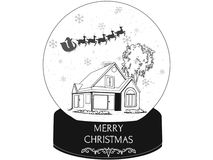 Frohe Weihnacht-Santa Claus-Kugel lizenzfreie abbildung