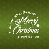 Frohe Weihnacht-und des guten Rutsch ins Neue Jahr-2019 grüner Hintergrund vektor abbildung