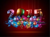 2015 frohe Weihnacht-und guten Rutsch ins Neue Jahr-Flieger Stockbild