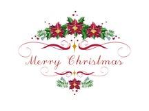 Frohe Weihnacht-und guten Rutsch ins Neue Jahr-Kranz stock abbildung
