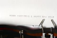 Frohe Weihnacht-und guten Rutsch ins Neue Jahr-Schreiben Stockfoto
