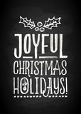 Frohe Weihnacht-und neues Jahr-Kreide-Brett-Beschriftung Stockbild