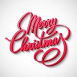 Frohe Weihnacht-Vektor-Beschriftung lizenzfreie abbildung