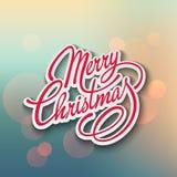 Frohe Weihnacht-Vektor-Beschriftung Retro- Auslegung Stockbilder