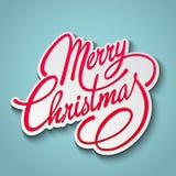 Frohe Weihnacht-Vektor-Beschriftung Retro- Auslegung Stockfoto