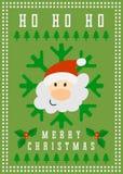 Frohe Weihnacht-Vektor-Gruß-Karte Lizenzfreies Stockbild