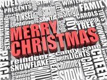 Frohe Weihnacht-Wörter Stock Abbildung