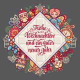 Frohe Weihnacht.  Xmas Congratulations in Germany Royalty Free Stock Photography