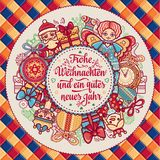 Frohe Weihnacht.  Xmas Congratulations in Germany Stock Images