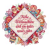 Frohe Weihnacht.  Xmas Congratulations in Germany Stock Photos