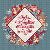 Frohe Weihnacht.  Xmas Congratulations in Germany Stock Photography