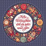 Frohe Weihnacht.  Xmas Congratulations in Germany Stock Image