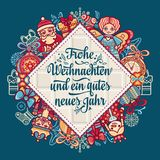 Frohe Weihnacht.  Xmas Congratulations in Germany Stock Photo