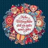 Frohe Weihnacht.  Xmas Congratulations in Germany Royalty Free Stock Photos