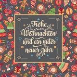 Frohe Weihnacht Xmas gratulacje w Niemcy Zdjęcie Royalty Free