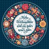 Frohe Weihnacht Xmas gratulacje w Niemcy Obraz Royalty Free