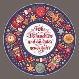 Frohe Weihnacht Xmas gratulacje w Niemcy Fotografia Royalty Free