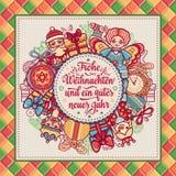 Frohe Weihnacht Xmas gratulacje w Niemcy Obrazy Royalty Free