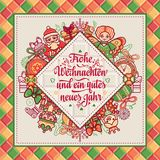 Frohe Weihnacht Xmas gratulacje w Niemcy Zdjęcia Royalty Free