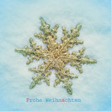 Frohe weihnachten,圣诞快乐用德语 免版税库存图片