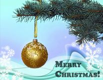 Frohe Weihnachten! Lizenzfreie Stockfotografie