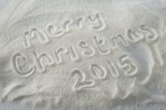 Frohe Weihnachten 2015 Lizenzfreies Stockbild
