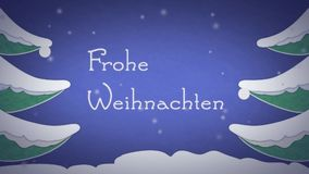 Frohe Weihnachten stock video