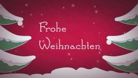 Frohe Weihnachten stock video footage