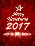 Frohe Weihnachten 2017 Lizenzfreie Stockfotografie
