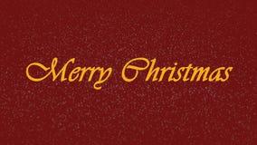 Frohe Weihnachten stock footage