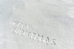Frohe Weihnachten auf Schnee Stockfoto