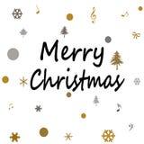 Frohe Weihnachten auf weißem Hintergrund Stockbilder