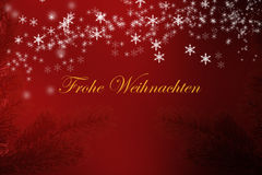 Frohe weihnachten background snowflakes and stars Stock Photography