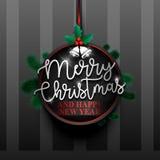 Frohe Weihnachten badge-01 lizenzfreie abbildung