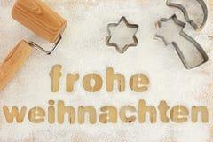 Frohe weihnachten bakning Fotografering för Bildbyråer
