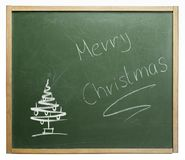 Frohe Weihnachten blackboard Royalty Free Stock Images