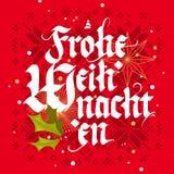 Frohe Weihnachten, cartolina di Natale Fotografie Stock